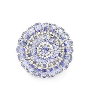 7.03ct AA Tanzanite Sterling Silver Ring
