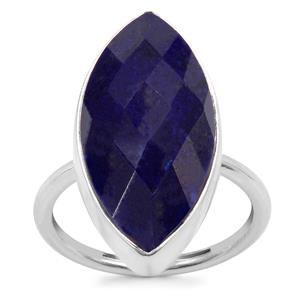 Sar-i-Sang Lapis Lazuli Ring in Sterling Silver 12.23cts