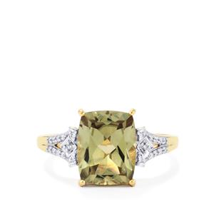 Csarite® Ring with Diamond in 18k Gold 3.76cts