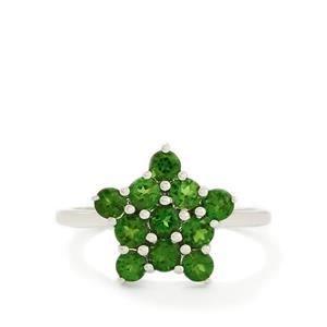 1.38ct Chrome Diopside 9K White Gold Ring