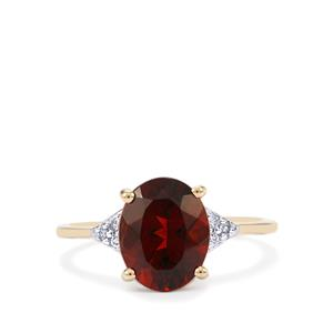 Rio Grande du Sul Citrine Ring with Diamond in 10K Gold 2.05cts