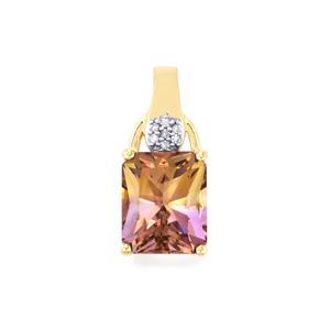 Anahi Ametrine Pendant with Diamond in 9K Gold 4.27cts