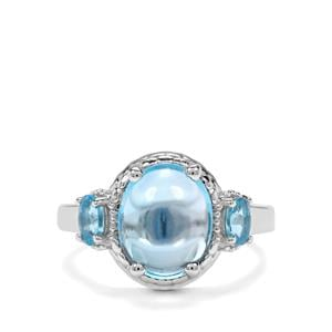 5.42ct Swiss Blue Topaz Sterling Silver Ring