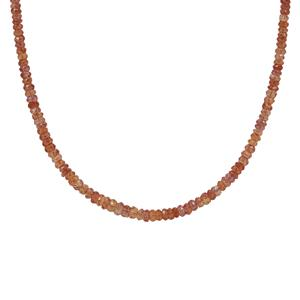 Padparadscha Sapphire Necklace in Sterling Silver 33cts