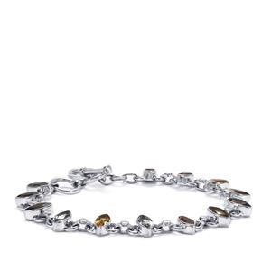 8.50ct Kaleidoscope Gemstones Sterling Silver Bracelet