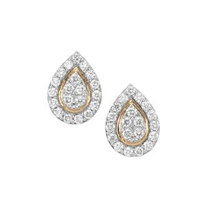 Diamond Earrings in 18K Gold 0.76ct