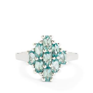 1.74ct Madagascan Blue Apatite Sterling Silver Ring