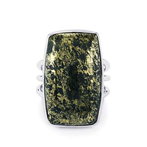 Apache Gold Pyrite Ring in Sterling Silver 24cts