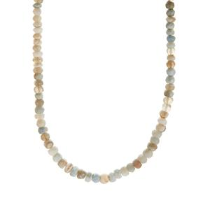 68.86ct Pachamama Peruvian Opal Sterling Silver Graduated Necklace
