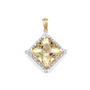Serenite Pendant with Diamond in 18K Gold 5.81cts