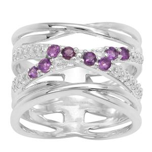 Amethyst Ring in Sterling Silver 0.32ct