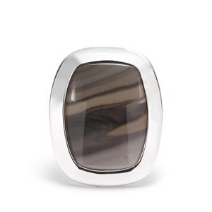 Cappuccino Flint Ring  in Sterling Silver 12.4cts