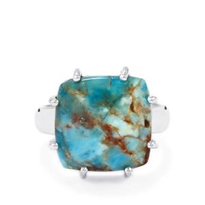Fort-Dauphin Apatite Ring in Sterling Silver 14cts
