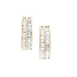 1ct Diamond 9K Gold Tomas Rae Earrings