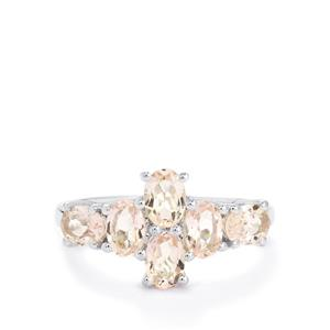 2.31ct Zambezia Morganite Sterling Silver Ring