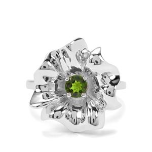 0.43ct Chrome Diopside Sterling Silver Ring