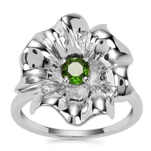 Chrome Diopside Ring in Sterling Silver 0.43cts