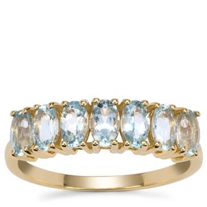 Santa Maria Aquamarine Ring in 9K Gold 1.35cts