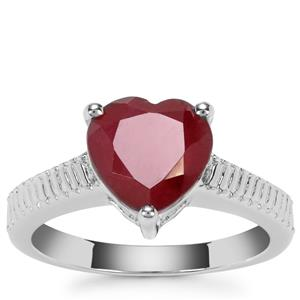 Malagasy Ruby Ring in Sterling Silver 3.20cts (F)