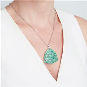Sakota Emerald Pendant in Sterling Silver 12.66cts