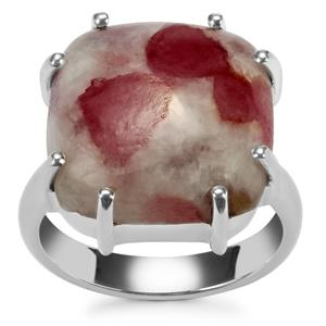 Lepidolite Ring in Sterling Silver 13cts