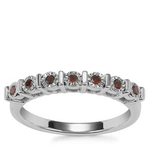 Cognac Diamond Ring in Sterling Silver 0.11ct