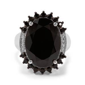 16.81ct Black Spinel Sterling Silver Ring