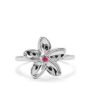 Cruzeiro Rubellite Ring in Sterling Silver 0.03cts