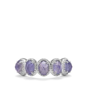 Rose Cut Tanzanite Ring in Sterling Silver 2.95cts