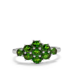 1.69ct Chrome Diopside Sterling Silver Ring