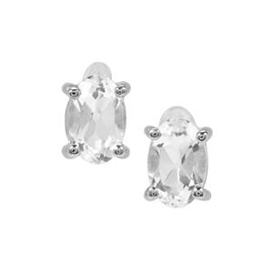 White Topaz Earrings in Sterling Silver 1.18cts