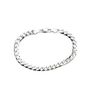 "8"" Sterling Silver Altro Flat Square Curb Bracelet 10.90g"