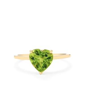 Changbai Peridot Ring in 10k Gold 2.04cts