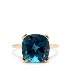 9.17ct Marambaia London Blue Topaz 9K Gold Ring
