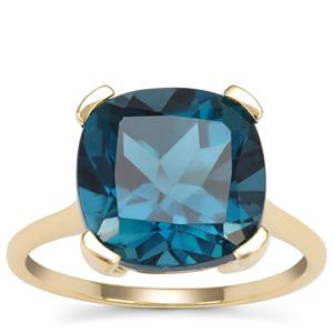 Marambaia London Blue Topaz Ring in 9K Gold 9.17cts