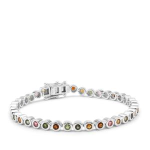 Multi-Colour Tourmaline Bracelet in Sterling Silver 4.75cts