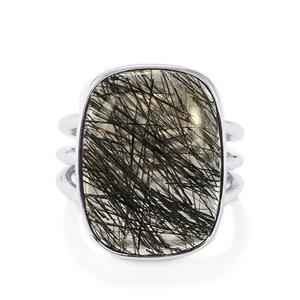 18.50ct São Paulo Tourmalinated Quartz Sterling Silver Aryonna Ring