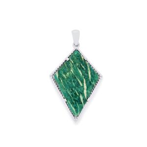 17.16ct Amazonite Sterling Silver Pendant