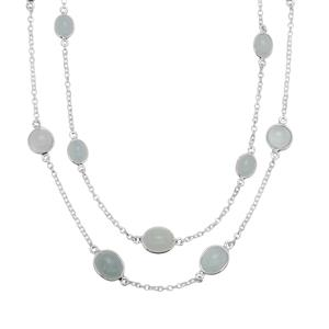 Aquamarine Necklace in Sterling Silver 22.44cts
