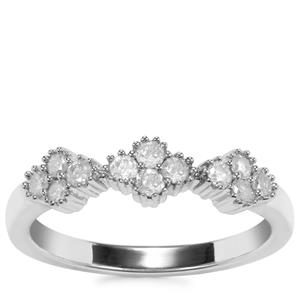 Diamond Ring in Sterling Silver 0.36ct