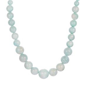 Russian Amazonite Graduated Necklace in Sterling Silver 158.70cts