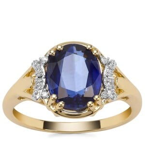 Nilamani Ring with Diamond in 9K Gold 3.19cts