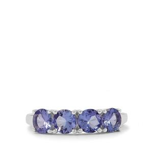 1.90cts Tanzanite Sterling Silver Ring