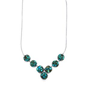 Egyptian Turquoise Necklace in Sterling Silver 46.20cts