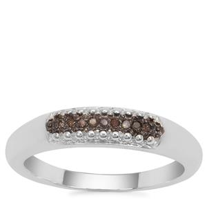 Champagne Diamond Ring in Sterling Silver
