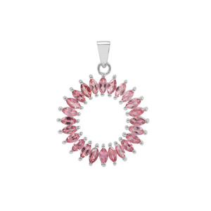 Pink Tourmaline Pendant in Sterling Silver 2.88cts