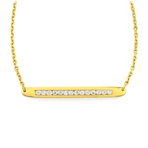 Rainbow Moonstone Bridge Necklace in Gold Vermeil 0.84cts