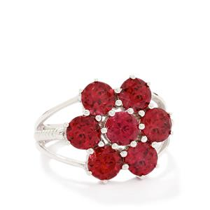 4.91ct Rhodolite Garnet Sterling Silver Ring