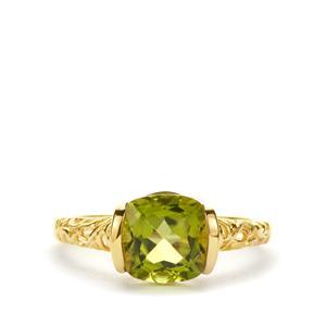 2.50ct Nanshan Peridot 9K Gold Ring
