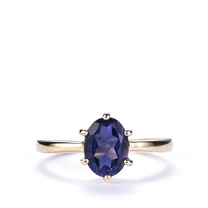 1.04ct Bengal Iolite 10K Gold Ring